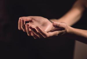two human palms