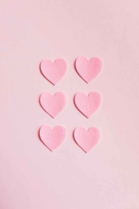 pink heart shaped on pink surface